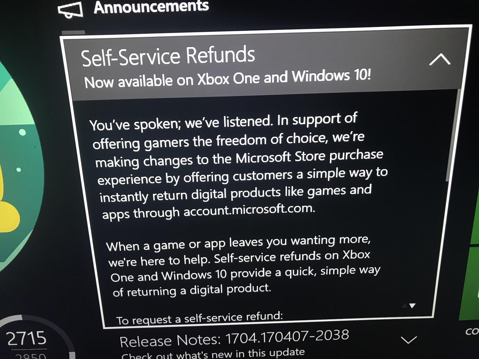 Как вернуть игру Xbox или Xbox Live купленную в Microsoft Store