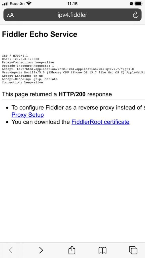 Fiddler Download Certificate